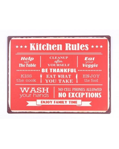 Szyld metalowy Kitchen Rules