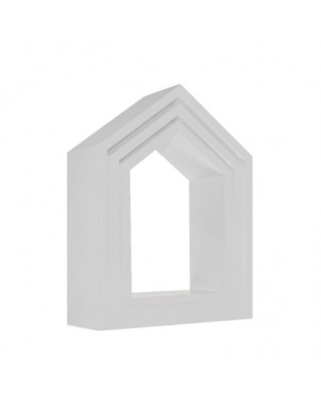 Zestaw 3 półek domków szary