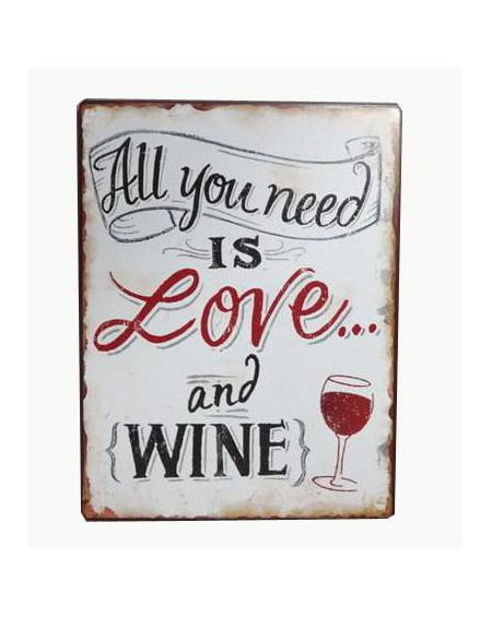 Szyld metalowy Love and Wine
