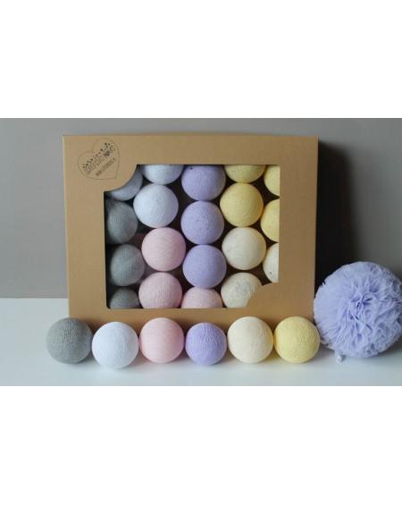 Cotton Balls Lila Pastel 35 szt.
