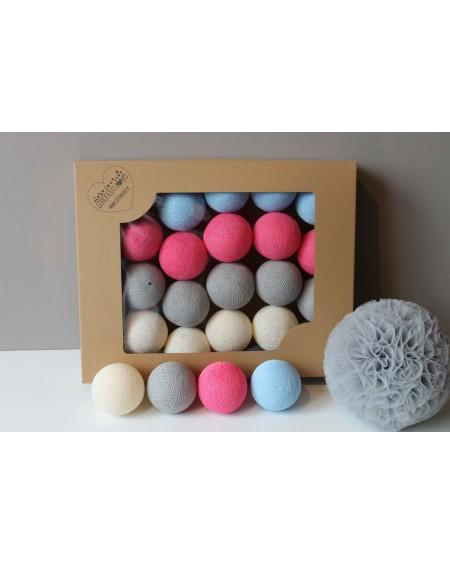 Cotton Balls Malinove 35 szt.