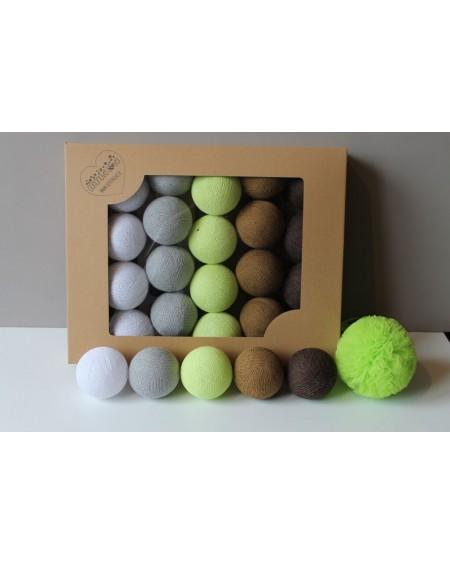 Cotton Balls Shade Lime 35 szt.