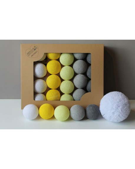 Cotton Balls Smoky Yellow 35 szt.