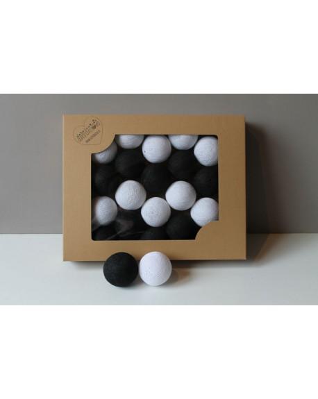 Cotton Balls Black&White 50 szt.