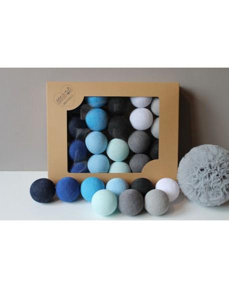 Cotton Balls Blackness Blue 35 szt.
