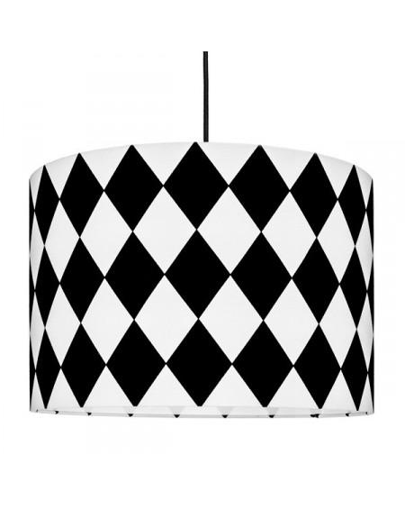 Lampa sufitowa romby czarne