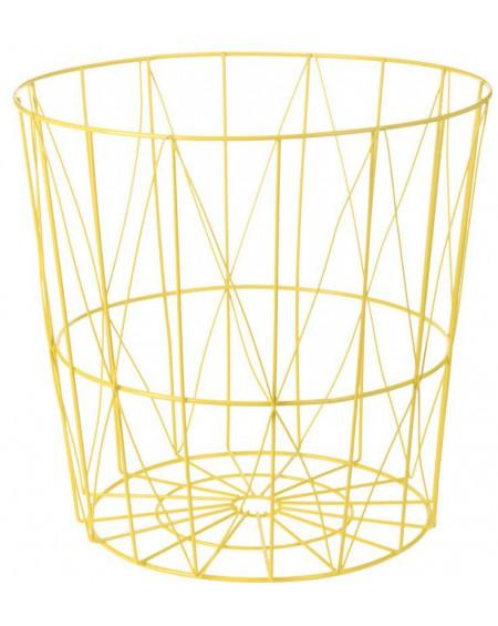 Koszyk metalowy żółty