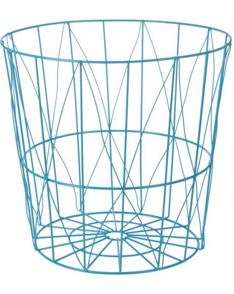 Koszyk metalowy niebieski