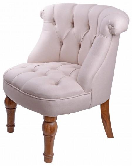 Fotel Leslie beżowy jasny