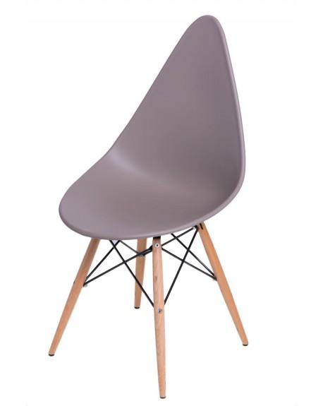 Krzesło Ruer szare