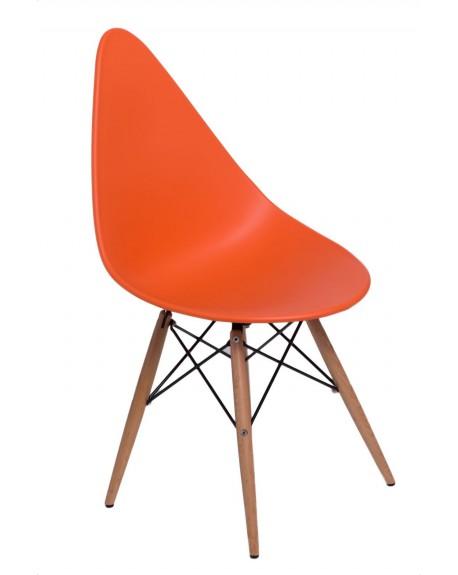 Krzesło Ruer pomarańczowe