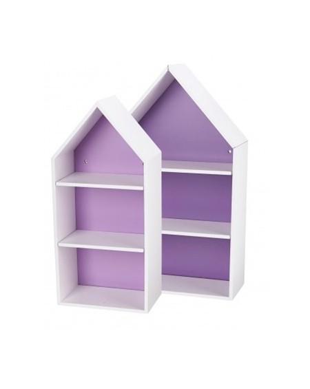 Półki domki fioletowe