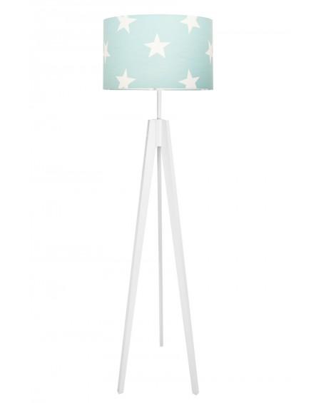 Lampa podłogowa gwiazdy na turkusie