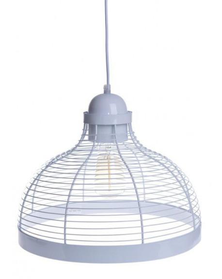 Lampa wisząca metalowa biała