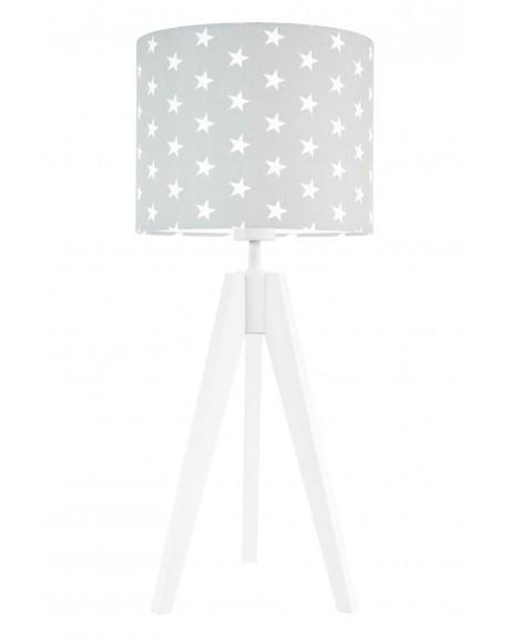Lampa stołowa Gwiazdki na szarym