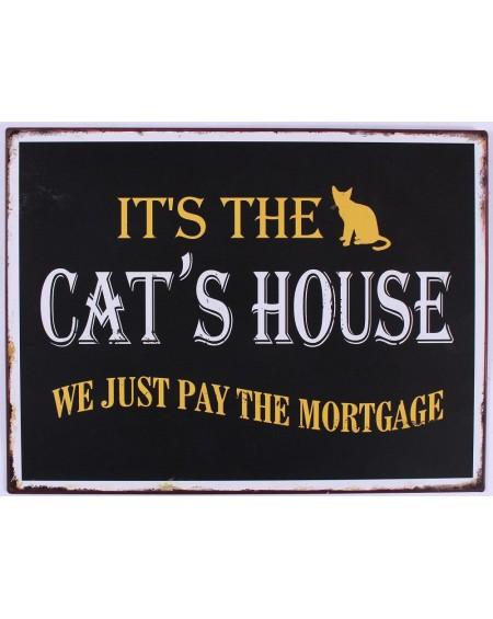 Szyld metalowy Cat's House