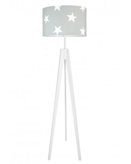 Lampa podłogowa gwiazdy na szarym