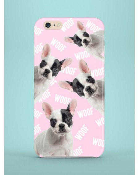 Etui na telefon Frenchies attack white pink