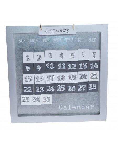 Kalendarz metalowy z magnesami