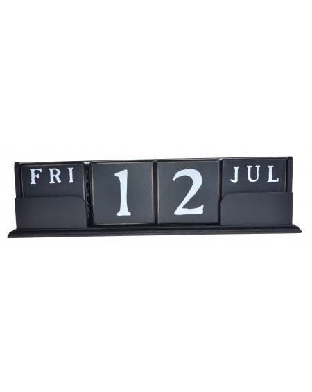 Kalendarz klocki czarny