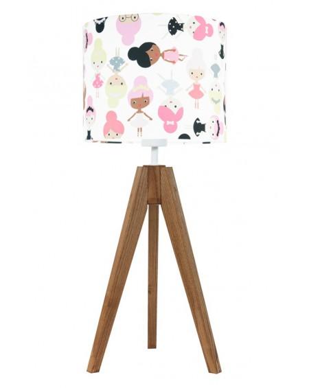 Lampa stołowa Laleczki dąb