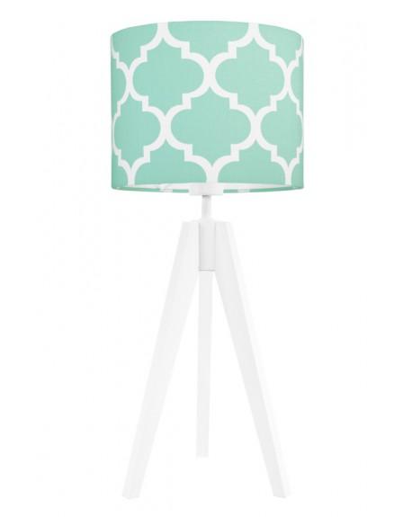 Lampa stołowa Koniczyna miętowa/biała