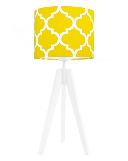 Lampa stołowa Koniczyna żółta/biała