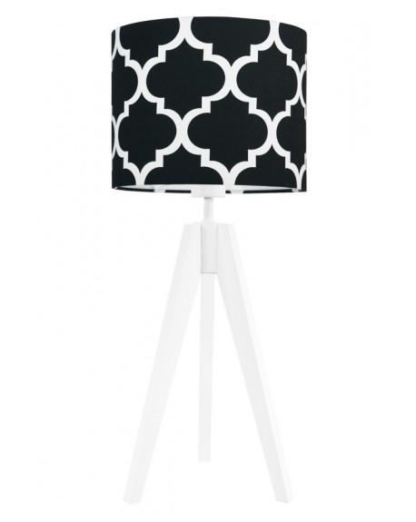 Lampa stołowa Koniczyna czarna/biała