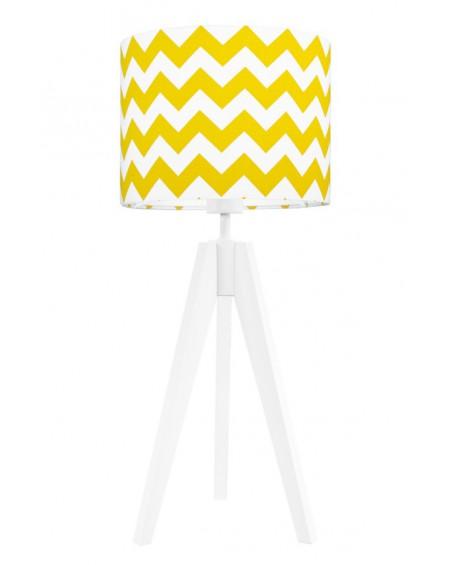 Lampa stołowa Chevron żółty/biała