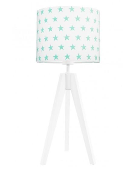 Lampa stołowa Gwiazdki miętowe/biała