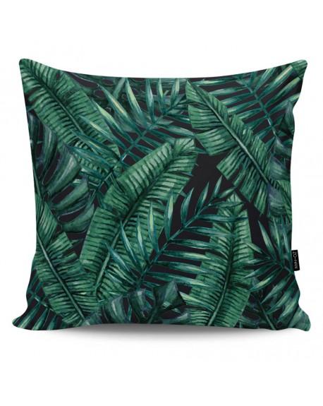 Poduszka dekoracyjna Dark Palm Leaves II