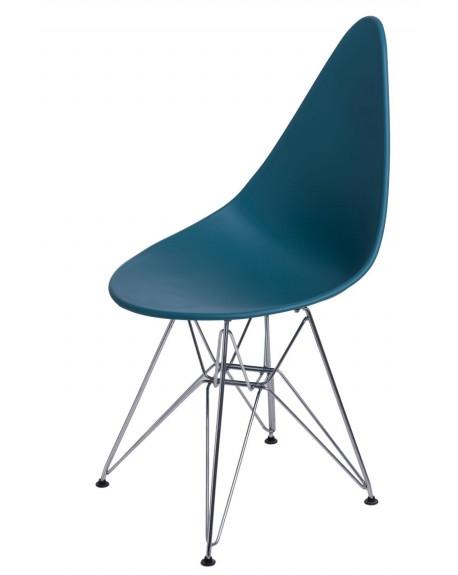 Krzesło Ruer chrome navy green