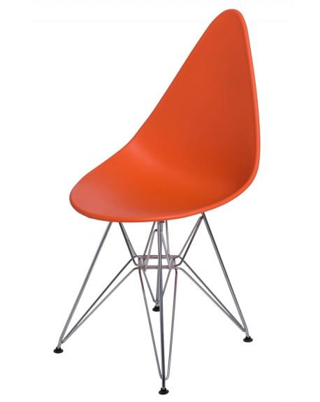 Krzesło Ruer chrome orange