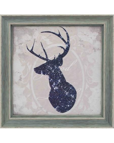 Obraz w drewnianej ramie Deer I