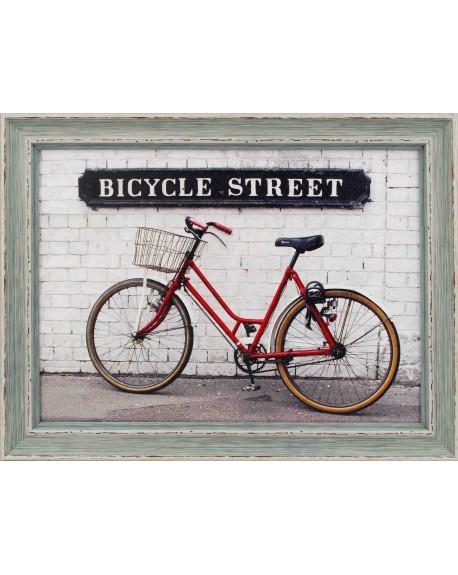 Obraz w drewnianej ramie Bicycle