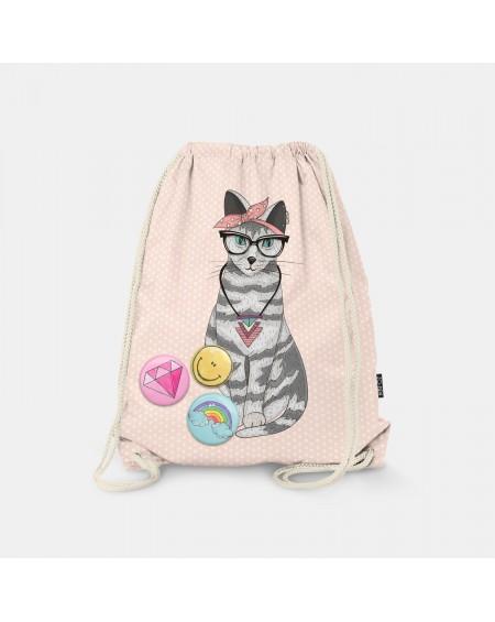 Worek-plecak Lovely Cat
