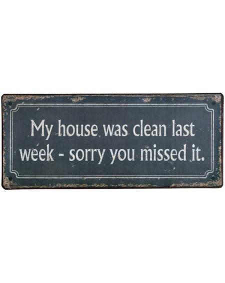 Szyld metalowy Clean House
