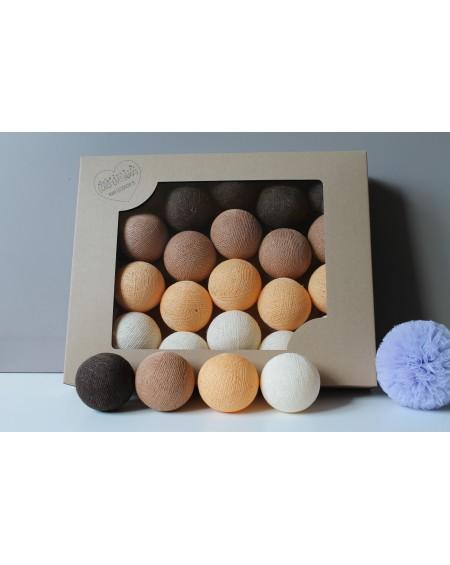 Cotton Balls Jesienna czekolada 35 szt.