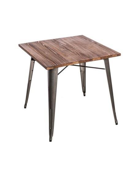 Stół Metalove Wood metaliczny sosna