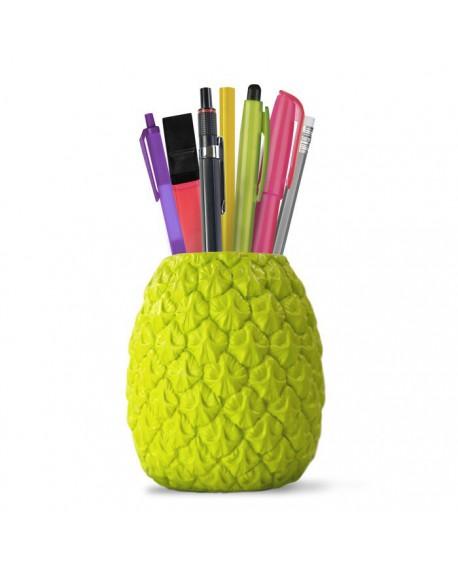 Stojak na długopisy ananas Seriously Tropical zielony