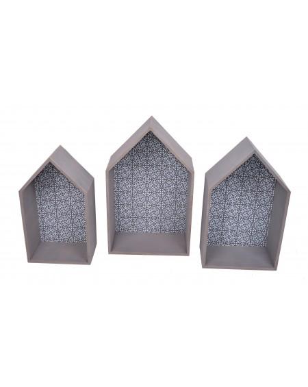 Kpl. 3 domków półek