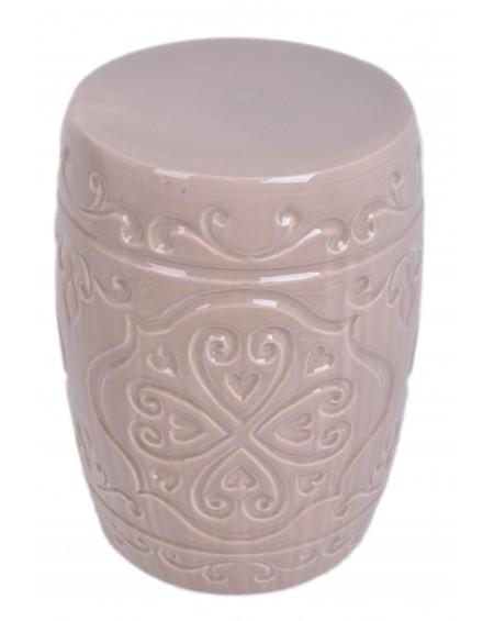Stołek ceramiczny beżowy