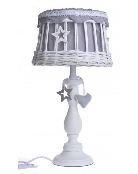 Lampa stołowa z sercami