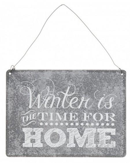 Tabliczka metalowa TIME FOR HOME
