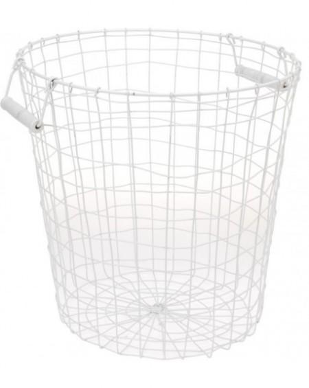 Koszyk metalowy biały