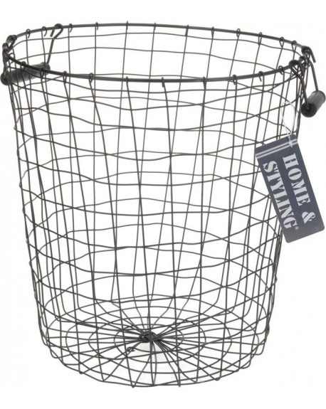 Koszyk metalowy czarny