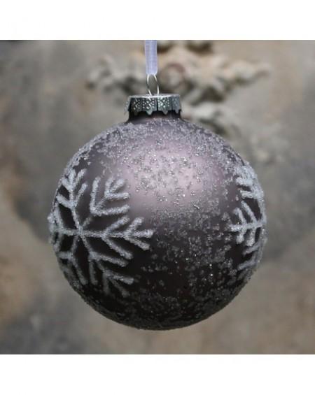 Bombka świąteczna Ice Crystals mocca
