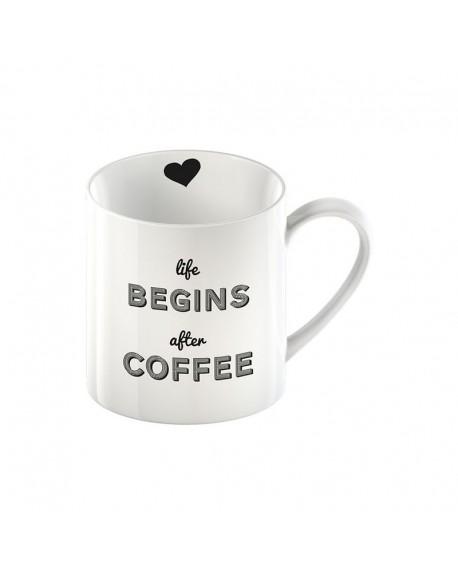 "Kubek ""Life begins after coffee"""