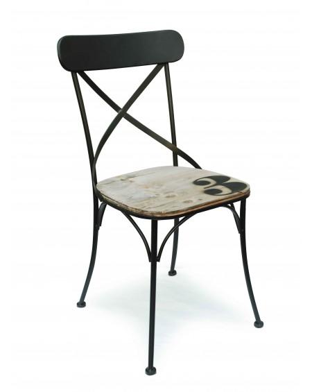 Krzesło metalowe czarne No3