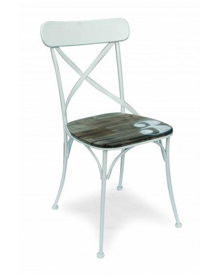 Krzesło metalowe białe No3